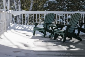 Adirondack Chairs on Bearberry Porch